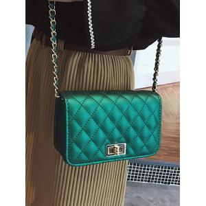 Stitching Quilted Crossbody Bag -