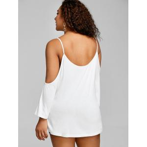 Plus Size Strappy Open Shoulder Tee -