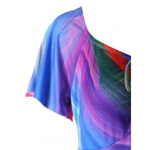 Plus Size Empire Waist Rainbow T-shirt -
