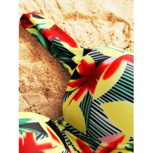 Ensemble de tankini tropical peplum moulé floral -