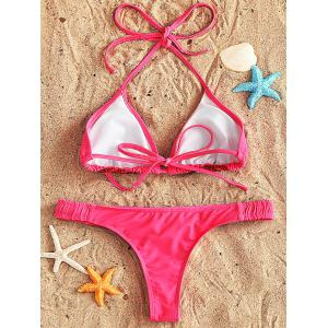 String Bikini and Thong Swimsuit -