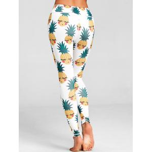 High Waist Pineapple Print Active Leggings -