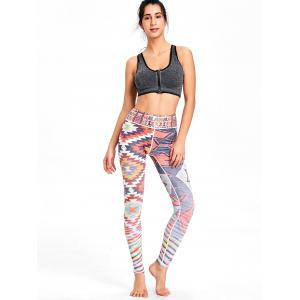 Multicolor Geometric Print High Waist Workout Leggings -