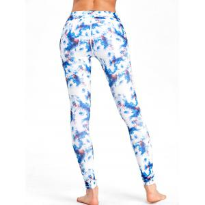 Tie Dyed Printed High Waisted  Workout Leggings -