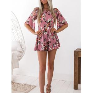 Floral Print Cut Out Romper -