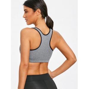 Sports Racerback Front Zip Up Bra -