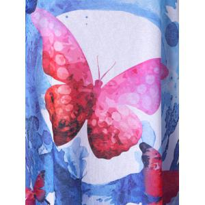 Plus Size Butterfly Pattern Top -