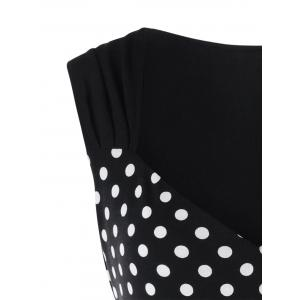 Plus Size Polka Dot Sleeveless T-shirt -