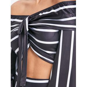 Stripe Crop Top and Wide Leg Pants -