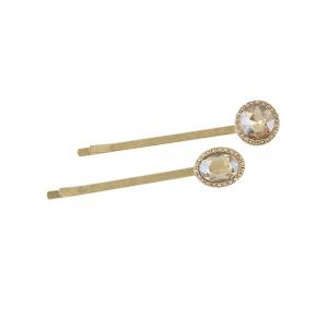 Geometric Faux Crystal Embellished Hair Pin -