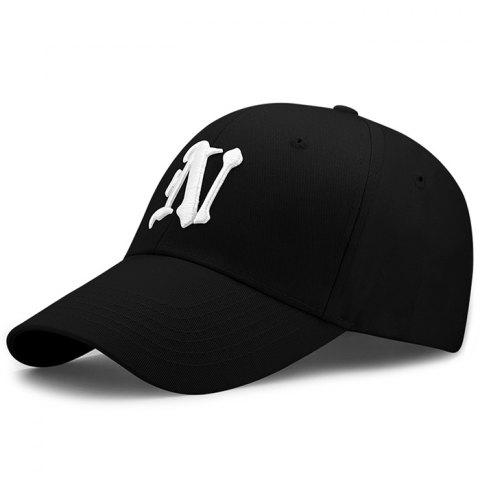 Store Simple N Pattern Embroidery Adjustable Baseball Hat
