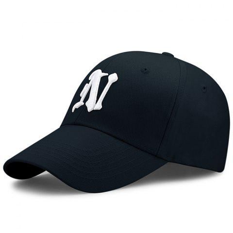 Affordable Simple N Pattern Embroidery Adjustable Baseball Hat