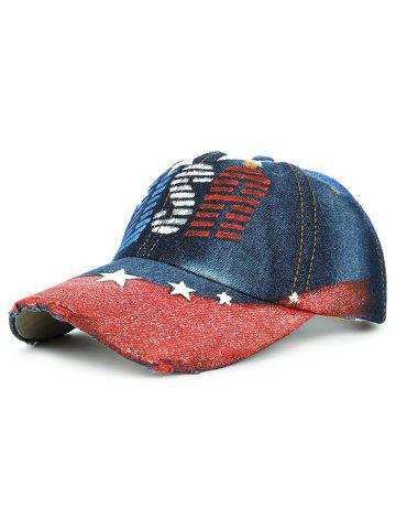 Online Unique Star Pattern Hand Drawing Baseball Hat