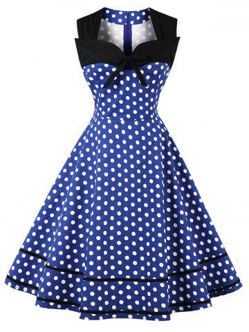 Outfits Plus Size Polka Dot Vintage Dress