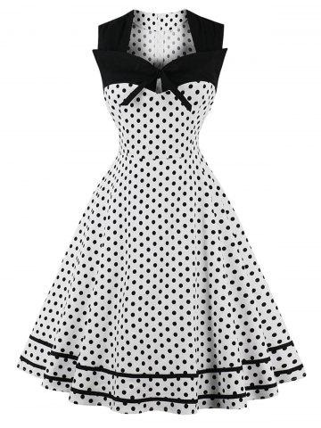 Fancy Plus Size Polka Dot Vintage Dress