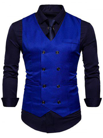 Affordable Slim Fit Double Breasted Waistcoat
