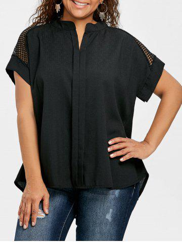 Sale Plus Size High Low Crochet Blouse