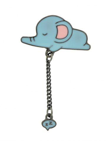 Fashion Cute Sleep Tiny Elephant Chain Brooch