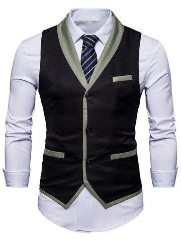 Outfits Shawl Collar Edging Waistcoat