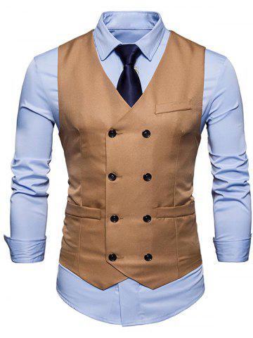 Trendy Slim Fit Double Breasted Waistcoat