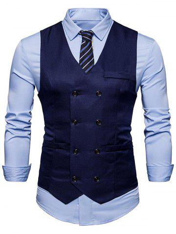 Buy Slim Fit Double Breasted Waistcoat