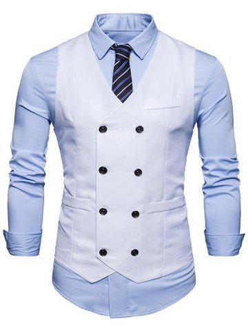 Cheap Double Breasted V Neck Waistcoat