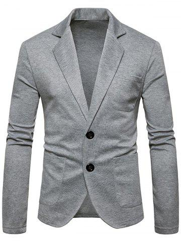 Outfits Single Breasted Lapel Collar Cotton Blend Blazer