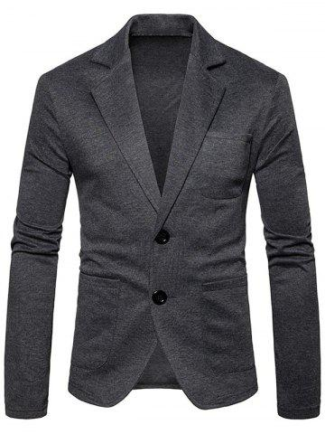 Shop Single Breasted Lapel Collar Cotton Blend Blazer