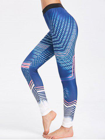 Shop Lines Pattern Workout Tights