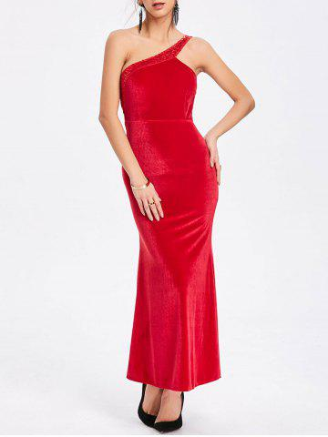 Fashion Sequin One Shoulder Party Maxi Dress