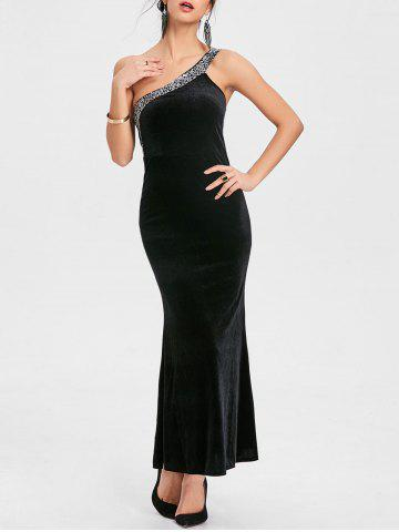 Affordable Sequin One Shoulder Party Maxi Dress