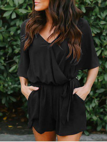 Buy V Neck Chiffon Surplice Romper