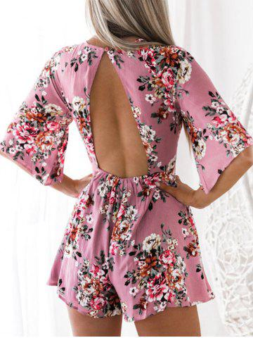 Latest Floral Print Cut Out Romper