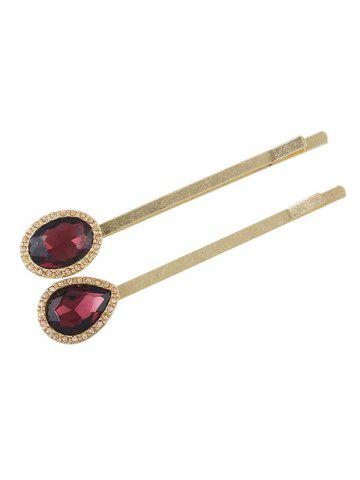 Shop Geometric Faux Crystal Embellished Hair Pin