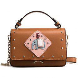 Rivet Patchwork Crossbody Bag -