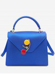 Flap Color Block Handbag -