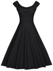 Foldover Sweetheart Party Dress -
