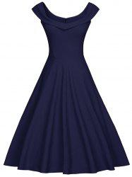 Foldover Sweetheart Vintage Dress -
