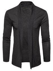 Shawl Collar Open Front Cardigan -