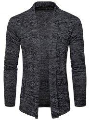 Shawl Collar Space Dye Open Front Cardigan -