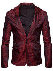 Vintage Paisley Pattern One Button Blazer -