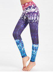Leggings funky de gymnastique d'impression de colorant de cravate -