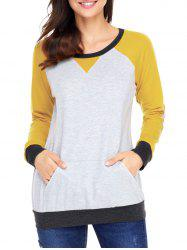 Elbow Patch Color Block Sweatshirt -