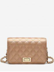 Faux Leather Stitches Crossbody Bag -