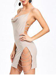 Chaîne Embellished Backless Club Dress -