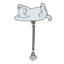 Tiny Cute Kitten Chain Brooch -