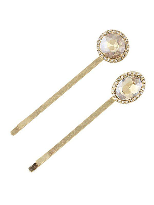 Hot Geometric Faux Crystal Embellished Hair Pin