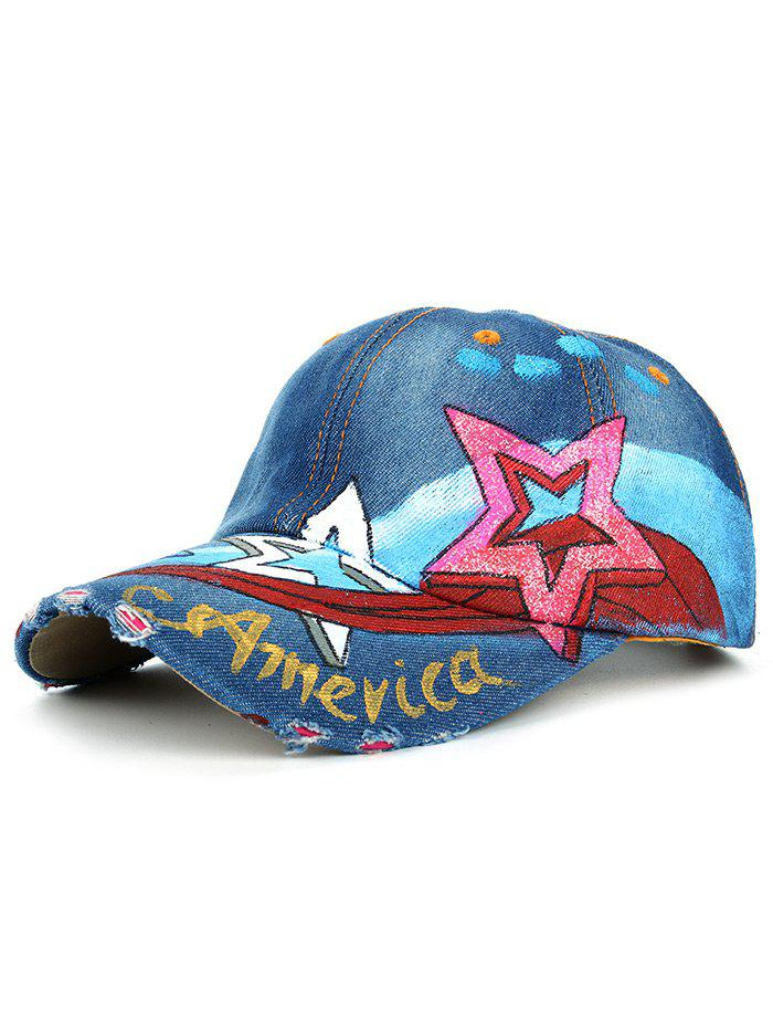 Chic Unique Star Pattern Embellished Hand Drawing Baseball Hat