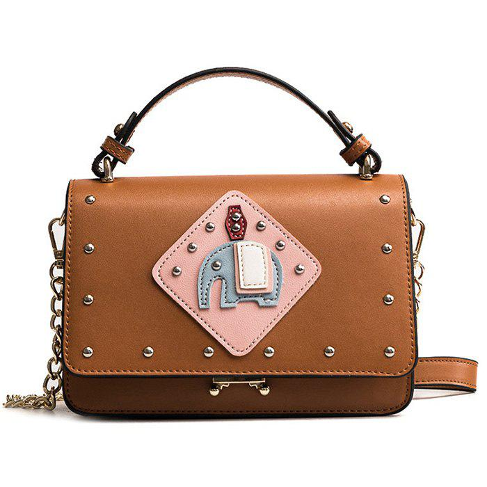 Fashion Rivet Patchwork Crossbody Bag