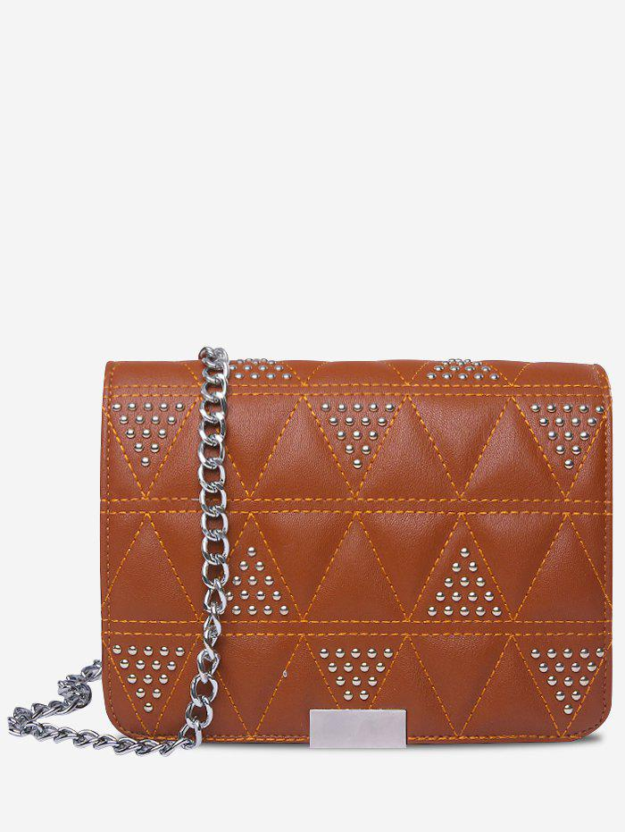 Outfits Quilted Studs Crossbody Bag